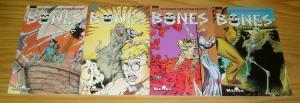 Bones #1-4 VF/NM complete series - living skeleton - malibu comics set lot 2 3