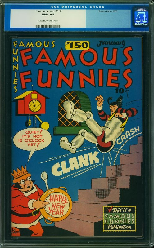 Famous Funnies #150 (Eastern Color, 1947) CGC 9.6 - HIGHEST GRADED!
