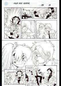 Ninja High School #134 Page 13 Original Comic Book Art- Ben Dunn