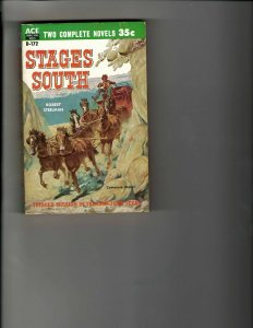 3 Books Stages South Grass Greed Triggerman Western Murder Mystery Drama JK18
