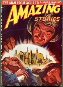 Amazing Stories Pulp July 1948- Man from Agharti G-
