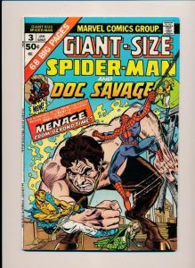 Marvel Comics 1975 SPIDER-MAN & DOC SAVAGE FINE+ (HX729)