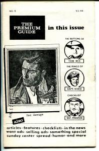 Premium Guide #5 1978-Hy Mandelowitz-Tom Mix-Sgt Preston-Doc Savage-FN