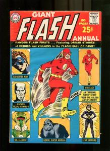 FLASH ANNUAL 1-1963-GIANT-FLASH HALL OF FAME VF