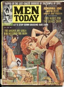 Men Today October 1962- water torture cover- cheesecake