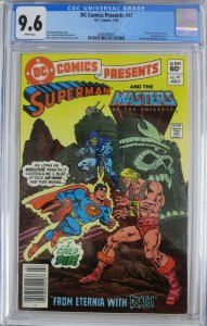 DC COMICS PRESENTS #47 (DC,7/1982) CGC 9.6 First He-Man & Skeletor in comics!