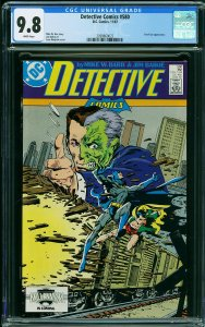 DETECTIVE COMICS #580 (CGC 9.8) Two-Face Appearance