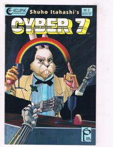 Cyber 7 #2 VF/NM Eclipse Comics Comic Book Itahashi 1989 DE47 AD33