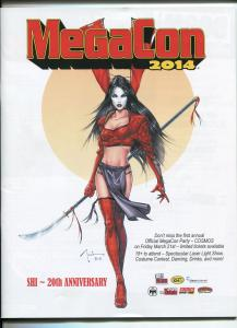 MEGACON 2014 PROGRAM BOOK- SHI 20TH ANNIVERSARY COVER-CREATORS-DEALERS-vf
