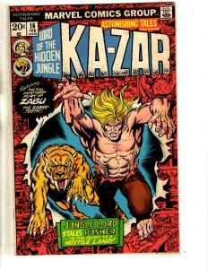 Lot Of 2 Astonishing Tales Marvel Comic Books # 16 31 Deathlok Ka-Zar Zabu JG3