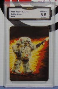 1986 Hasbro G.I. GI Joe Battle Armor SNAKE Cobra Series 1 Card 114 - Graded 8.5