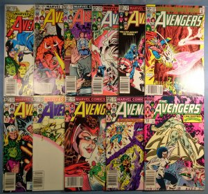 Avengers Lot #225 #226 #228 #229 #230 #231 #232 #233 #234 #235 #238 Marvel