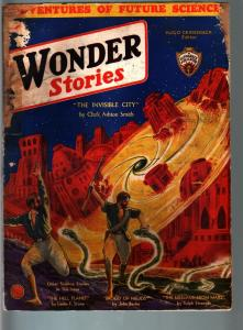 WONDER STORIES 6/1932-SCI-FI PULP-CLARK ASHTON SMITH FR/G