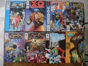 8 VALIANT Comic: DEATHMATE X-O MANOWAR THE VISITOR CHAOS EFFECT SECRET WEAPONS