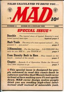 MAD #11 1954-EC-Wally Wood-Will Elder-Archie-Mark trail-Davis-Krigstein-VG+