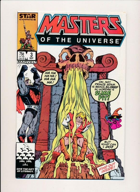 Marvel STAR Comics  MASTERS OF THE UNIVERSE Vol 1 #3 Sept. 1986 VF/NM(PF373)