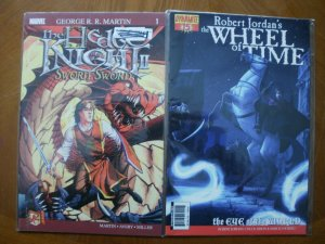 2 Comic Book: Marvel HEDGE KNIGHT 2 #1 & Robert Jordan's THE WHEEL OF TIME #15