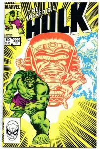 HULK #288, VF, Incredible, Bruce Banner, Buscema, 1968 1983, Marvel
