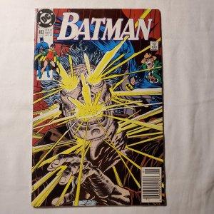 Batman 443 Very Good- Big chuck missing on back Cover by Michael Bair
