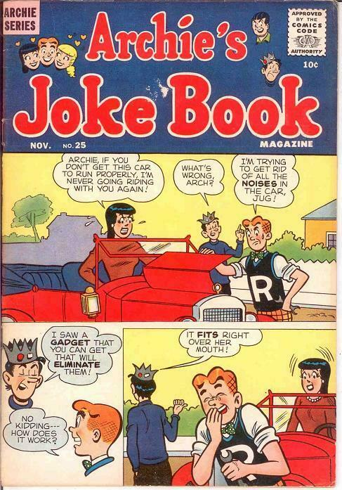 ARCHIES JOKE BOOK (1954-1982)25 VG+ Nov. 1956 COMICS BOOK