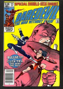 Daredevil #181 VF 8.0 Death of Elektra! Marvel Comics