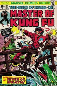 Master of Kung Fu (1974 series) #23, VF- (Stock photo)