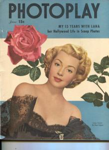 Photoplay-Lana Turner-Ronald Reagan-Elizabeth Taylor-Betty Hutton-June-1948
