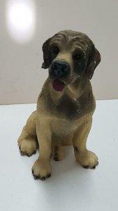 Figura perro de resina: Labrador de 9x6 cm