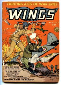 Wings #11 comic book NAZI cover 1941-Fiction House-pre WWII-aviation