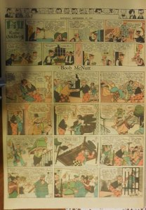 Boob McNutt Sunday by Rube Goldberg from 9/28/1930 Large Rare Full Page Size!