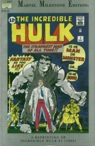 Marvel Milestone Edition Incredible Hulk #1, VF+ (Stock photo)
