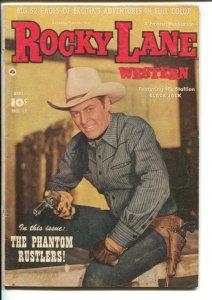 Rocky Lane Western #17 1950-Fawcett- B-Western movie star photo cover-FN-