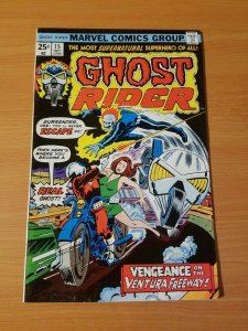 Ghost Rider #15 ~ VERY FINE - NEAR MINT NM ~ (1975, Marvel Comics)