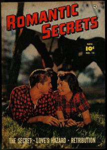 Romantic Secrets #12 1950- Photo cover Fawcett Golden Age Bob Powell VF-