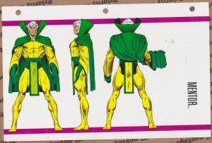 Official Handbook of the Marvel Universe Sheet - Mentor