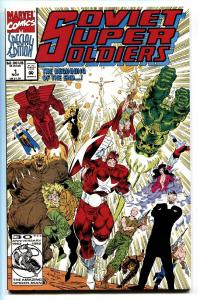 Soviet Super Soldiers #1-First issue-Marvel comic book 1992