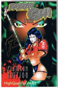RAZOR & SHI #1, NM-, Platinum, Signed by Hartsoe, 1994, more indies in store