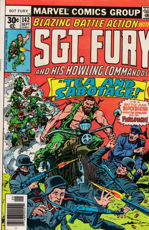 SGT. FURY Nr.142  SEP.1977 Tea & Sabatage   VF Clean