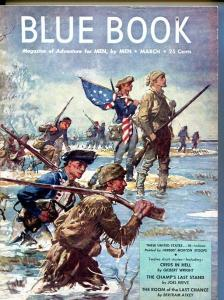 BLUE BOOK PULP-MARCH 1947-G/VG-STOOPS COVER-FORD-PEACOCK-REEVE G/VG