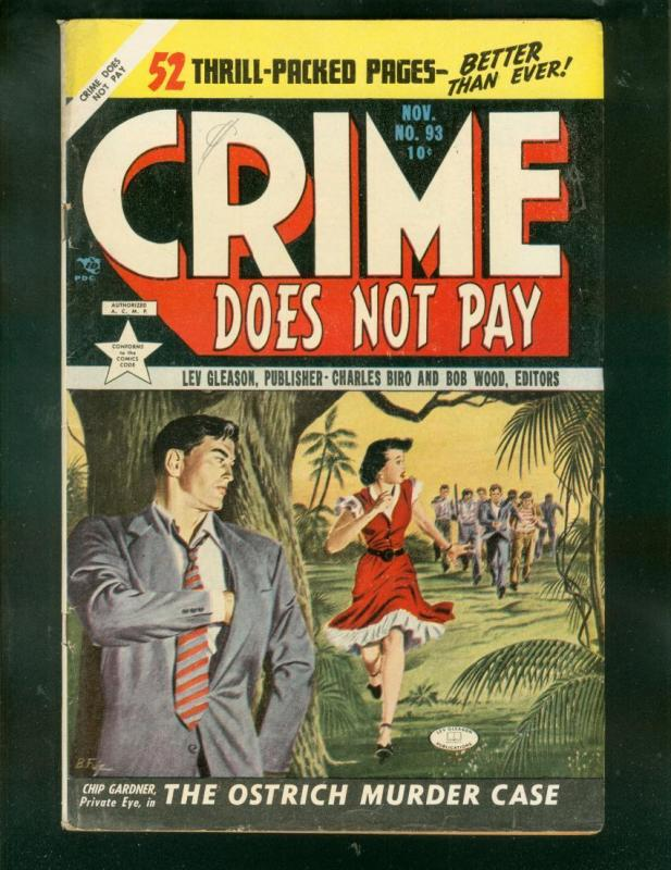 CRIME DOES NOT PAY #93 1950-CHARLES BIRO-AL McWILLIAMS! FN