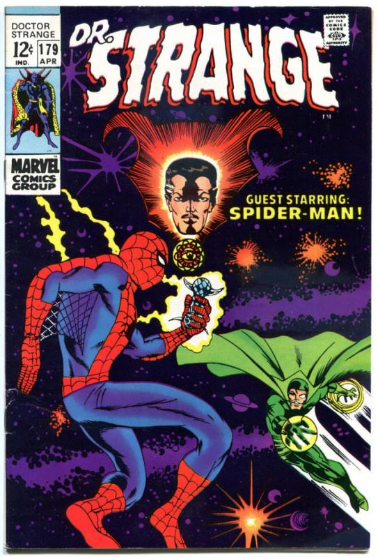 DOCTOR STRANGE #179, FN/VF, Mystic Arts, Spider-Man, 1968, more DS in store