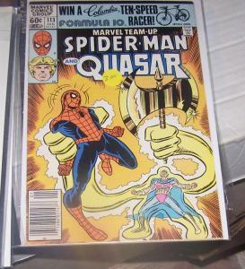 MARVEL TEAM UP  #113  jan 1982 marvel  - spiderman and QUASAR