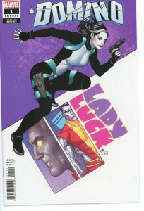 Domino Annual 1 Frank Cho Variant 9.0 (our highest grade)