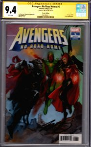 Marvel! Avengers No Road Home #1! Noto Variant! CGC SS 9.4! Signed by Jim Zub!