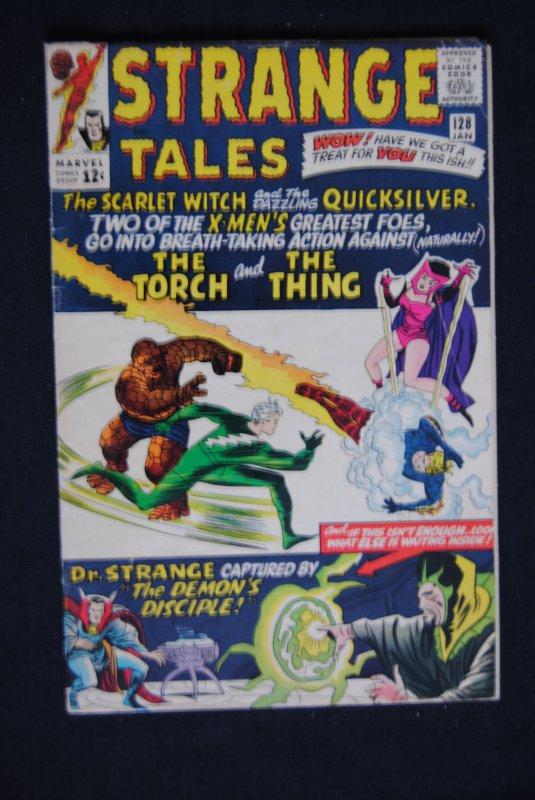 Strange Tales #128, Dr. Strange, Human Torch, Scarlet Witch