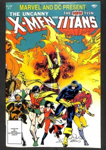 Marvel and DC Present featuring The Uncanny X-Men and The New Teen Titans #1 ...