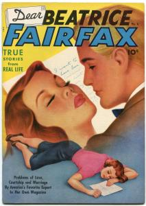 Dear Beatrice Fairfax #6 1951- Schomburg Romance cover- Rare golden age FN/VF