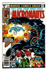 MICRONAUTS #8 comic book 1st captain universe  MARVEL   gotg