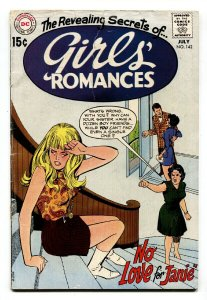 GIRLS' ROMANCES #142-D.C. ROMANCE-SILVER AGE comic book
