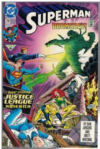 SUPERMAN (1987) 74 (1ST PRINT) F-VF Dec. 1992